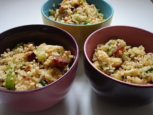 Tempeh and Bulgur with Celery