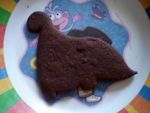 Chocolate Dino Cookies