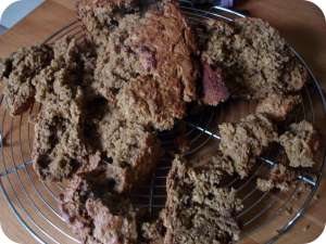 Peanut Butter & Jelly Oat Quick Bread