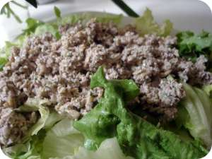 Raw faux tuna salad